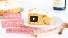 SIMPELE CARROT CAKE MET 5 INGREDIËNTEN