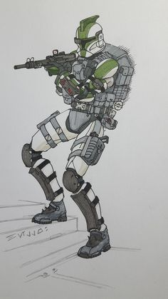 ARC Trooper coloured by halonut117