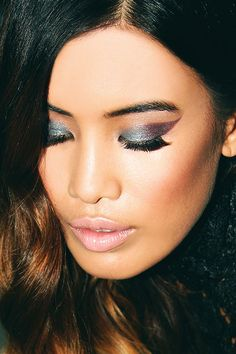 shimmery winged eye #beauty #makeup