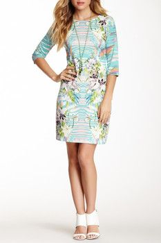 Sienna Rose 3/4 Sleeve Printed Dress