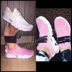 promo code f3aec 3068c Nike Sockdart Pink Barbie Disney Custom