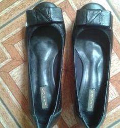 Sapato preto confortável PREGO