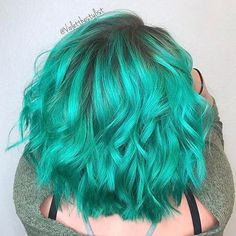 """2,679 Likes, 21 Comments - Pulp Riot Hair Color (@pulpriothair) on Instagram: """"Sea Glass and Aquatic... @violetthestylist is the artist... Pulp Riot is the paint."""""""