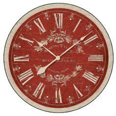 Reverse Toile Clock Timeworks