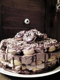 Torta donuts moka e panna