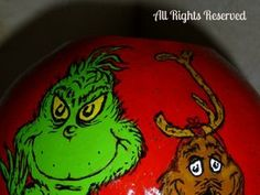 Painted Grinch Gourds   photo: Grinch Max How the Grinch Stole Christmas Hand Painted Gourd ...