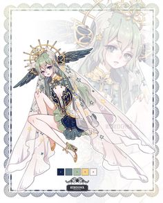 All by Rurucha on DeviantArt Female Character Design, Character Design Inspiration, Character Concept, Character Art, Fantasy Characters, Anime Characters, Manga Art, Anime Art, Anime Dress