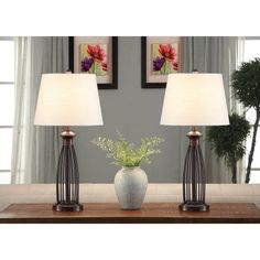 Free 2-day shipping. Buy Better Homes and Gardens Birdcage Lamps, Set of 2, Bronze at Walmart.com