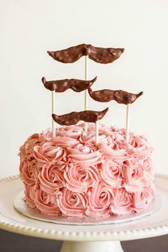 Chocolate Cake with Raspberry Swiss Meringue Buttercream