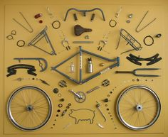 Exploded view bicycle