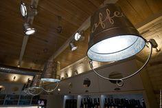 the TRIGONO cafe in Veroia by architect Dimitris Koukoudis .