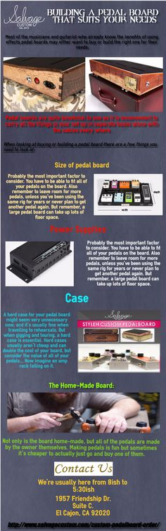 Most of the musicians and guitarist who already know the benefits of using effects pedal boards may either want to buy or build the right one for their needs.Pedal boards are quite beneficial to use as it is inconvenient to carry all the things in your set up in separate boxes alone with the cables every where.