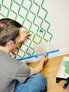 How to stencil walls.  I'm sure this will come in handy one day