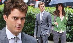 Jamie Dornan is clean shaven in a smart suit for Fifty Shades Of Grey #DailyMail