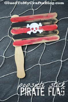 Popsicle Stick Pirate Flags {Kid Craft}                              …