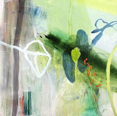Abstract painting by biology trained Allison Stewart Artist of plants and flowers depict the interconnectedness of man and nature in her New Orleans studio. Abstract Expressionism, Abstract Art, Contemporary Artwork, Mixed Media Collage, Artsy Fartsy, Sculpture, Artwork Drawings, Creative, Nature