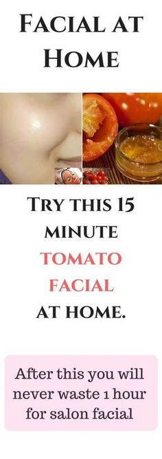 Try this 15 minute tomato facial at home. After this you will never waste 1 hour for salon facial Easy to do home facial that will take only 15 minutes. Major ingredient that we are going to use in all steps is Tomato Skin Care Remedies, Natural Remedies, Skin Care Regimen, Skin Care Tips, Beauty Regimen, Skin Tips, Beauty Secrets, Beauty Hacks, Diy Beauty