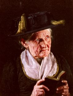 Kronberger Carl A Portrait Of A Woman With A Book Of Prayer.