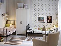 would be cute for the kids shared room. O side stripes and K side polka dots.