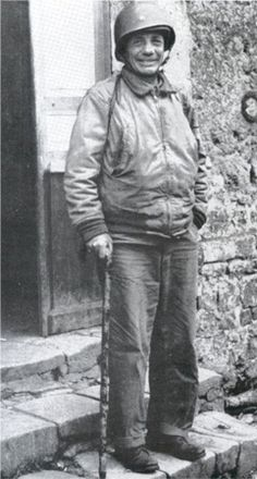 Despite a heart condition and arthritis that forced him to use a cane, Brig. General Theodore Roosevelt Jr. led the assault on Utah Beach, landing with the first wave of troops. He died in France less than a month later of a heart attack.