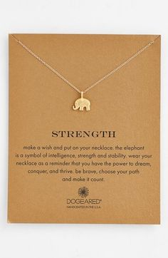 Dogeared 'Reminder - Strength' Pendant Necklace