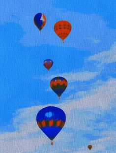 """""""Hot Air Balloons"""" by Dan Sproul   http://fineartamerica.com/featured/hot-air-balloons-pop-art-dan-sproul.html"""