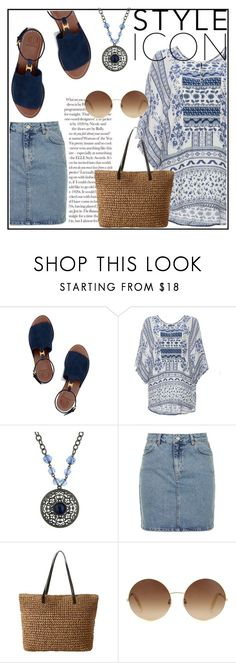 """""""Summer Fun"""" by eve4ever ❤ liked on Polyvore featuring Tory Burch, DailyLook, 1928, Topshop and Victoria Beckham"""