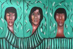 "VWL/ASIA/009 (A,C,B)  (Paris 2013 ""Greentych"")-Acrylic on canvas/Acrylique sur toile/Acrylico sobre tela (30X60cm)"
