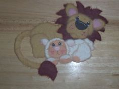 Hand torn lion and lamb..Great for any easter page :)