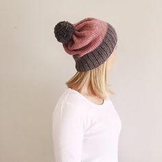 Winter Hats, Fall Winter, Bobble Hats, Pom Pom Hat, Blush Pink, Hand Knitting, Knitted Hats, Handmade Items, Warm