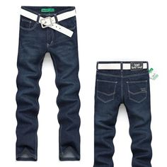 fashion Men's long Jeans Trousers Straight Leg fit Leisure&Casual pants 2013 New Style brand cotton size 28 36 male denim pants-in Jeans fro...
