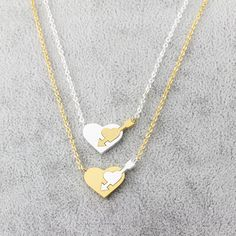 DIANSHANGKAITUOZHE Gold Plated Heart Necklaces Pendants Cupid's Arrow Fashion Necklaces For Women Mothers Day Gift Collane Donna