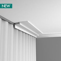 This design can be used as an LED downlighting coving or can be used to hide curtain track. Ceiling Coving, Ceiling Curtain Track, Ceiling Curtains, Home Curtains, Curtains With Blinds, Ceiling Design, Modern Curtains, Curtain Pelmet, Curtain Rails
