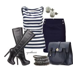 Navy and Charcoal, created by cynthia335 on Polyvore