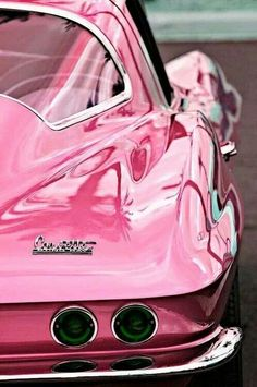 Exotic Pink Cars For Ladies - Pink Corvette - http://www.pinspopulars.com/pink-car-pictures-ford-mustang-audi-corvette-chevrolet-jeep/ #pink_cars