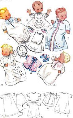 1940s Infant Layette Set   via Etsy.