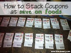 How to Stack Coupons at Save on Foods via MrsJanuary.com #extremecouponing