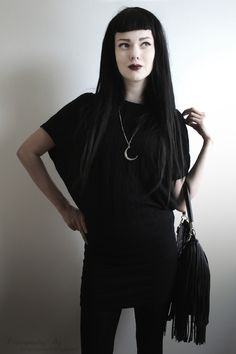 Black outfit #goth #style