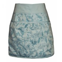 Organic Cotton Half Apron in Whispering Grass/Pale Aqua | InStyleOrganicLiving.com