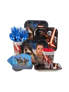 Need Star Wars Episode VII Standard Kit for your next party? Search Birthday in a Box for the latest themed tableware and party accessories with cheap prices.