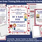 If I Ran for President Higher Order Thinking Skills Task Cards   THIS ACTIVITY REQUIRES THE BOOK  IF I RAN FOR PRESIDENT by Catherine StierIncl...