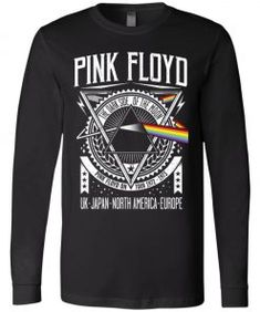 1972 Tour Pink Floyd Long Sleeve - UnicornAZ - Fortnite, Sport, Trending apparel Chiefs Shirts, Mickey Shirt, Pink Floyd Dark Side, Tee Design, Tours, Trending Outfits, Long Sleeve, Sleeves, Mens Tops