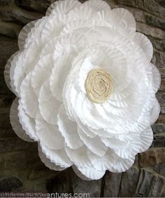 Coffee Filter Flower - Serenity Now: Highlighted Weekend Links-- Share Your Best Post!