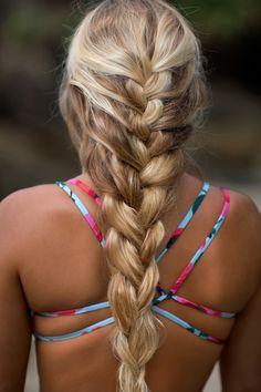 Hair + bikini goals
