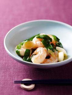 【ELLE a table】小海老とにらのねぎ&しょうが炒めレシピ|エル・オンライン