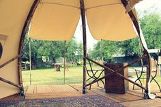 This gorgeous bamboo (f)route POD is perfect for your glamping getaway