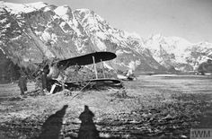 Burnt out Gloster Gladiators of No 263 Squadron, RAF on the frozen surface of Lake Lesjaskog after being destroyed by the Germans. Westland Whirlwind, Ww2 Aircraft, Royal Air Force, World War Two, Wwii, Norway, Aviation, Gladiators, Pictures