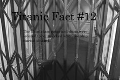 Titanic Fact The third class gates and doors were ordered to be unlocked when the ship started sinking. Rms Titanic, Titanic Photos, Titanic Ship, The Beatles History, Titanic History, Wow Facts, Wtf Fun Facts, Crazy Facts, Modern History