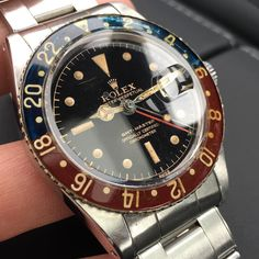 Happy Sunday!  The Majestic Rolex GMT 6542.  Coolest vintage Rolex?  Comments?  #rolexpassion #vintagerolex #rolexgmt