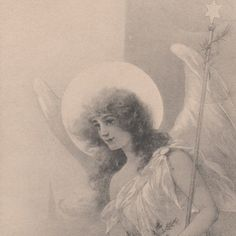 Beautiful Christmas Angel with Gifts Original Vintage Postcard | eBay